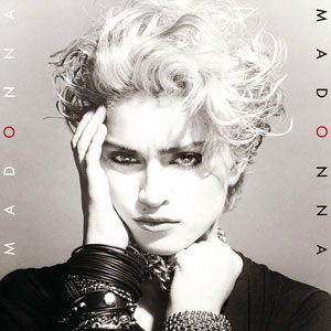 "Madonna's first album, ""Madonna"". http://planetbaub.files.wordpress.com/2008/07/madonna_album.jpg"